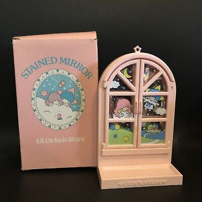 Vintage Sanrio Little Twin Stars 1976 Stained Mirror With Box