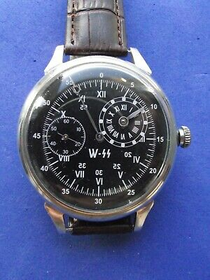 Vintage Watch Military 3602 REGULATEUR Waffen-SS DIVISION GERMAN ARMY WWII 40`S