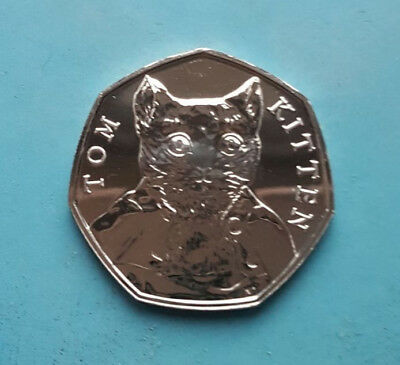 Tom Kitten 50P Coin 2017 X 1 - Fifty Pence Beatrix Potter Set Vgc