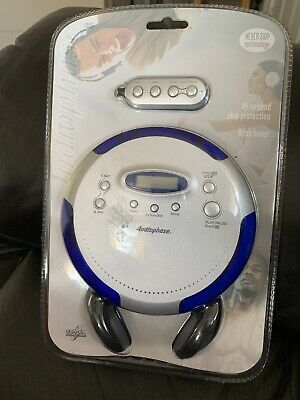 Audiophase CD-315 portable cd compact disc player blue anti skip personal cd NEW