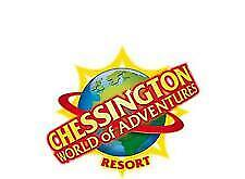 2 x Chessington World of Adventure E-Tickets Sunday 25th August 2019  25/08/19