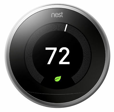 Nest 3rd Generation Learning Stainless Steel Programmable Thermostat 3 Pack