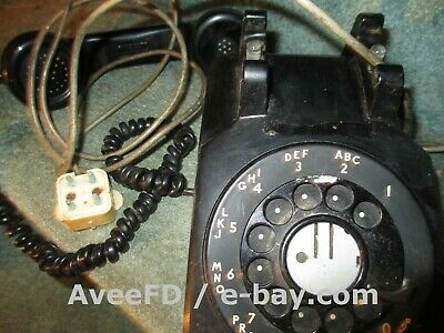 Western Electric #500 Vintage Bell Telephone #7 Metal Dial 1940's 1950's 1960's