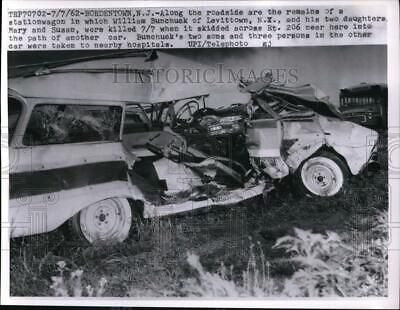 REAL PHOTO THE Wreck of Happy Johnny's 1936 Chevy Car Crash