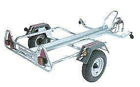 ERDE PM310 MOTOR BIKE TRAILER plus free motor bike straps.