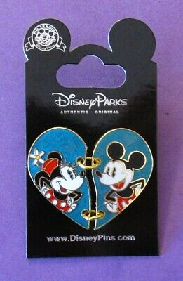 Disney Minnie and Mickey Two Piece Heart  Pin