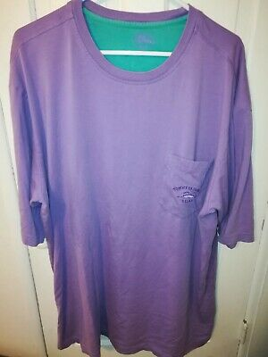 Tommy Bahama Relax Mens XL Tall  Short Sleeve Shirt Pima Cotton Purple Lavender