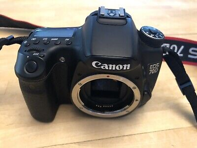 Canon EOS 70D 20.2MP Digital SLR Camera - Black (Body Only) - Used