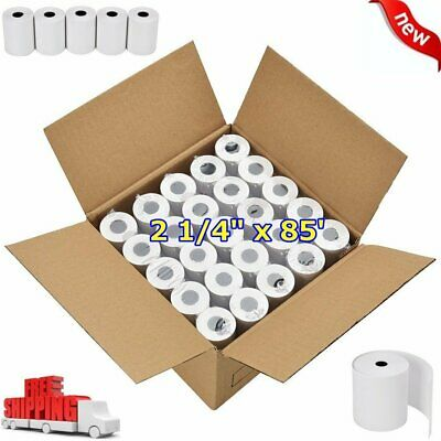 "50 ROLLS 2 1/4"" x 85' REGISTER POS THERMAL RECEIPT PAPER for FD100Ti FD130 FD50"