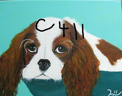 "P1-C411 Print Of Original Acrylic Painting By Ljh  ""Charlie""  Cocker Spaniel"