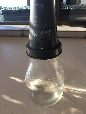 Vintage Embossed 1 Imperial Pint Oil Bottle Plastic Top  BP