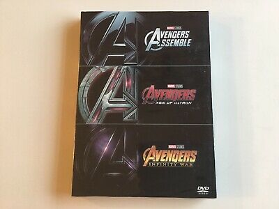 DVD - Avengers - NEW 3-Movie Collection Trilogy Box Set Age Ultron Infinity War
