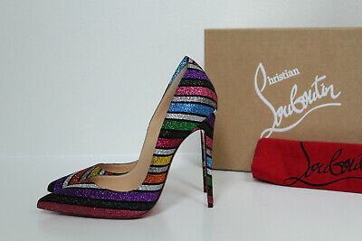 06aa090200f CHRISTIAN LOUBOUTIN SO Kate Glitter Pumps in China blue dragonfly ...