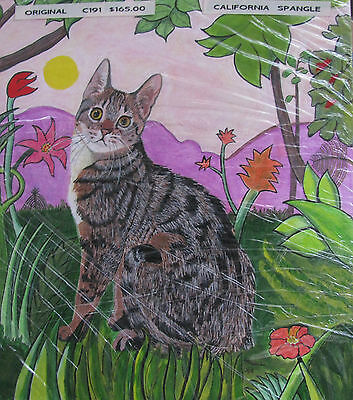 "C176 Original Acrylic Painting By Ljh  ""Toyger""   Cat  Kitten"