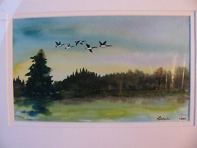 "C216 Original Watercolour Painting By Ljh ""Heading South"""