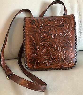 """PATRICIA NASH CROSSBODY~Burnished Tooled Granada in color """"Florence"""" $149 NWT"""