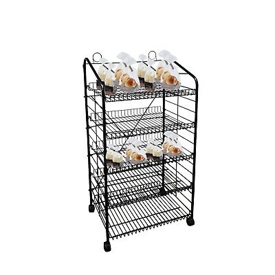 "26.1"" X 16.5"" X 58"" Bakery Display Rack w/Wheels"