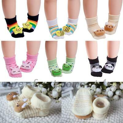 Cute Baby Girl Boy Anti-slip Socks Cartoon Newborn Slipper Shoes Boots 0-1 year