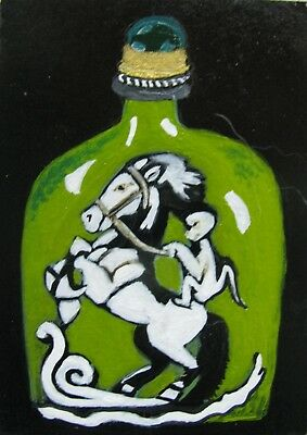 "A692        Original Acrylic  Aceo Painting By Ljh  ""Chinese Snuff Bottle"""