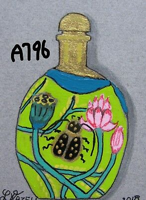 "A796            Original Acrylic  Aceo Painting By Ljh  ""Snuff Bottle"""