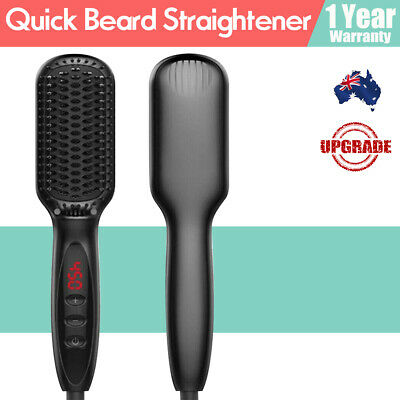 Quick Beard Straightener Disp Multifunctional Hair Comb Curling Curler For Man4C