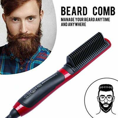 Lady Mens Quick Beard Straightener Multifunctional Hair Comb Curling Curler 4C