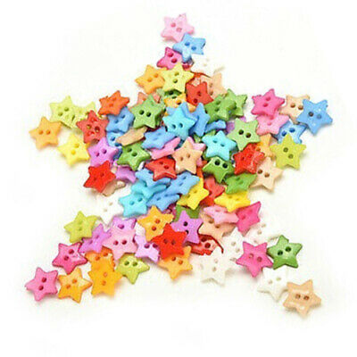 100 Pcs/lot Plastic Buttons Sewing DIY Craft decals for Children Star I7T5