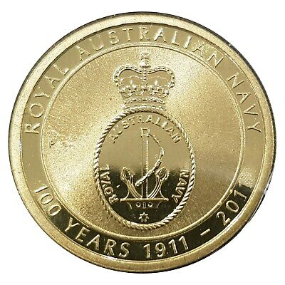 Australia 2011 100 Years of Royal Australian Navy $1 Dollar UNC Coin Carded