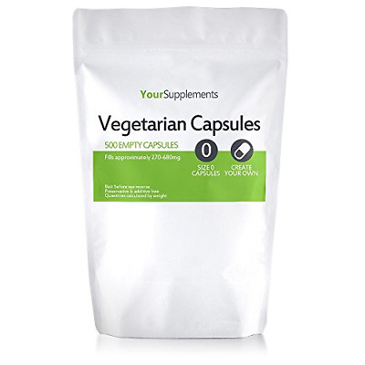 Your Supplements - Size 0 Empty Vegetarian Capsules - Pack of 500