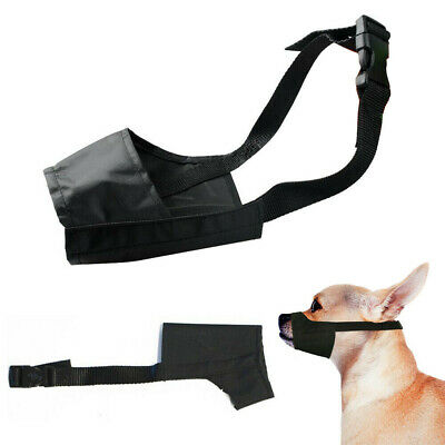 Small Pet Dog Mouth Muzzle Grooming Mask Nylon No Bark Bite Chewing Adjustable