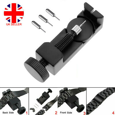 Length Adjuster Watch Band Strap Bracelet Long Link Pins Remover Repair Tool Kit