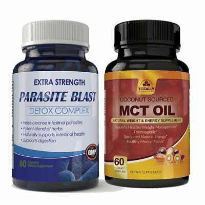 Parasite Blast Detox Intestinal Cleanser 120 Cap Tablets GMP Combo Free Shipping