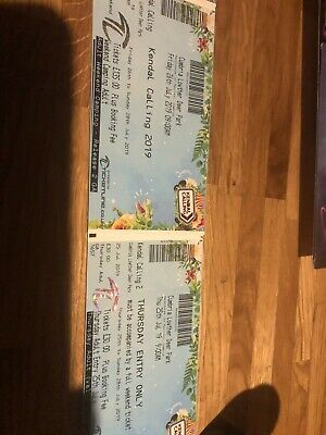 Kendal Calling Adult Ticket Plus Thursday Entrance And Camping Total Cost £183.