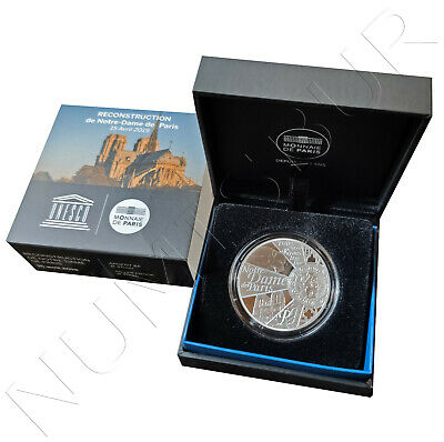 FRANCIA 10 euro plata 2019 proof Reconstruction Notre-Dame de Paris