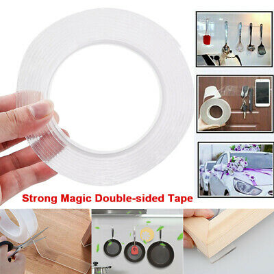 Magic Double-sided Grip Tape Traceless Washable Adhesive Invisible Reusable Gel