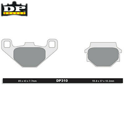 DP Sintered Off-Road/ATV Rear Brake Pads DP310 Polaris Phoenix 200 2005-2012