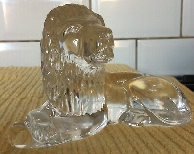 Waterford Crystal Glass Lion Original Label Made In Ireland