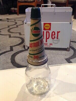 Castrol XL Tin Top And Imperial Pint Bottle ORIGINAL with Correct Dust cap!!!
