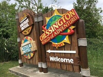 Chessington World Of Adventure E Tickets X2 . Sunday 4th August . 4/8/19