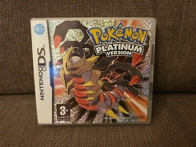 Pokemon Platinum Version Nintendo Ds Dsi 100% Genuine Pal Uk Eur 2Ds 3Ds New 2Ds