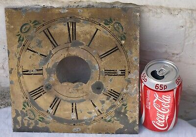 ANTIQUE METAL LONGCASE CLOCK DIAL FACE - AS IS - C.GOODRICH - CT - USA c1828-57