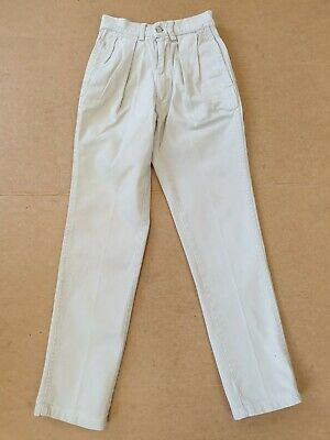 Cc973 Kids Polo Ralph Lauren Beige Slim Fit Cotton Chinos Trousers Age 8 W22 L25