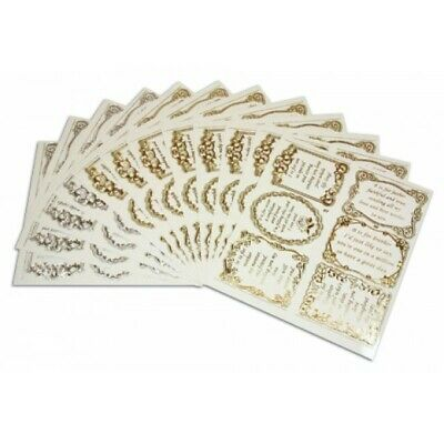 Peel Off Stickers, Verses - All Occasions, Pk 12 sheets