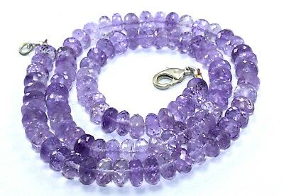 Wow 224.70 CT Natural Pink Amethyst Faceted Roundel 13 mm Beads 1 Strand 20 Inch
