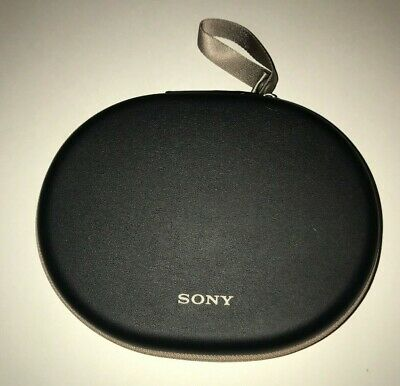 Sony WH-1000XM2 Wireless Bluetooth Headphone CASE ONLY - BLACK with Tan Zipper