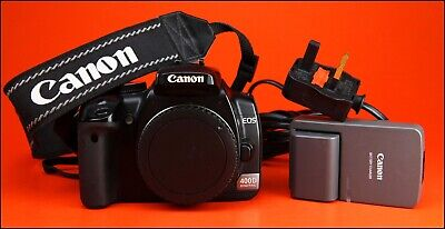 Canon EOS 400D DSLR Camera.  Sold With Battery, & Charger & Strap