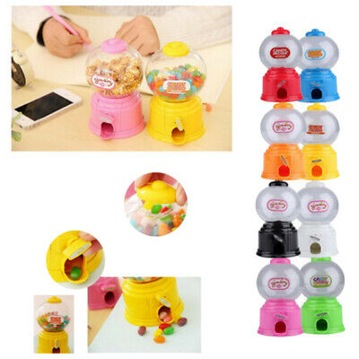 Cute Sweets Mini Candy Machine Bubble Gumball Dispenser Coin Bank Kids Toy  L7D8