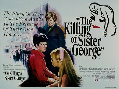 Super 8mm sound 5X400 THE KILLING OF SISTER GEORGE. Beryl Reid British drama.