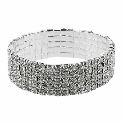 Silver Plated Wedding Rhinestone Bracelet Bangle 16mm HOT P2I6