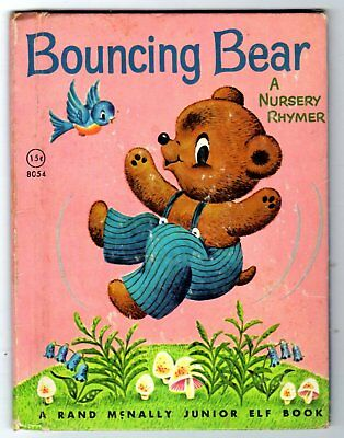 BOUNCING BEAR ~ vintage 15¢ Rand McNally Junior Elf Book, 1960, 32 pg Tony Brice